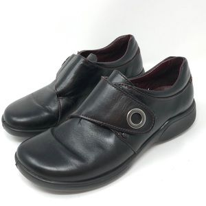 Romika Black Leather Slip On Loafers Shoes